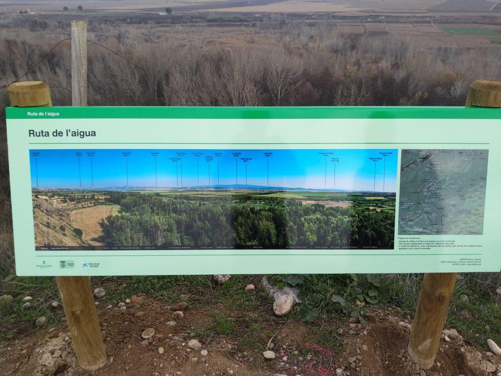 insitu patrimoni i turisme finalitza la senyalització de la ruta de l'aigua d'alguaire