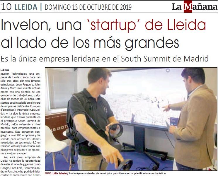 reportatge sobre invelon, única 'startup' de lleida en el south summit madrid 2019