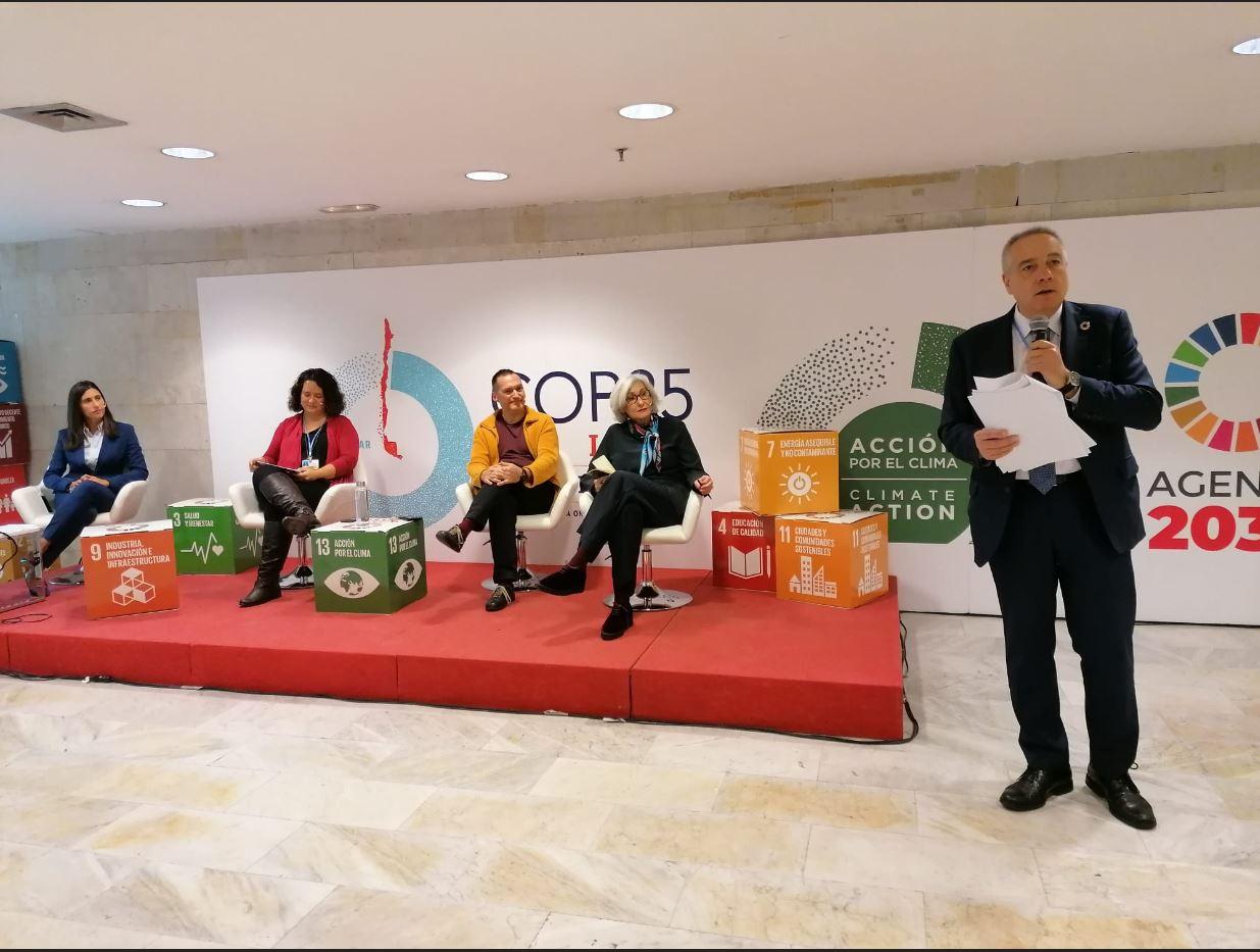 Pere Navarro expone en la Cumbre del Clima COP25 el proceso de transformación  de la Zona Franca de Barcelona