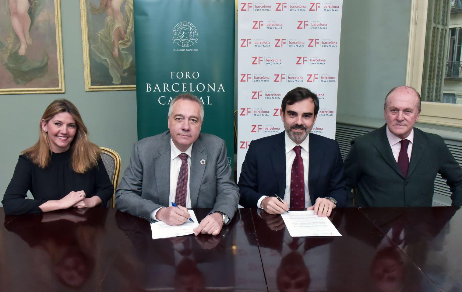 firma del convenio del consorci de la zona franca y el círculo equestre