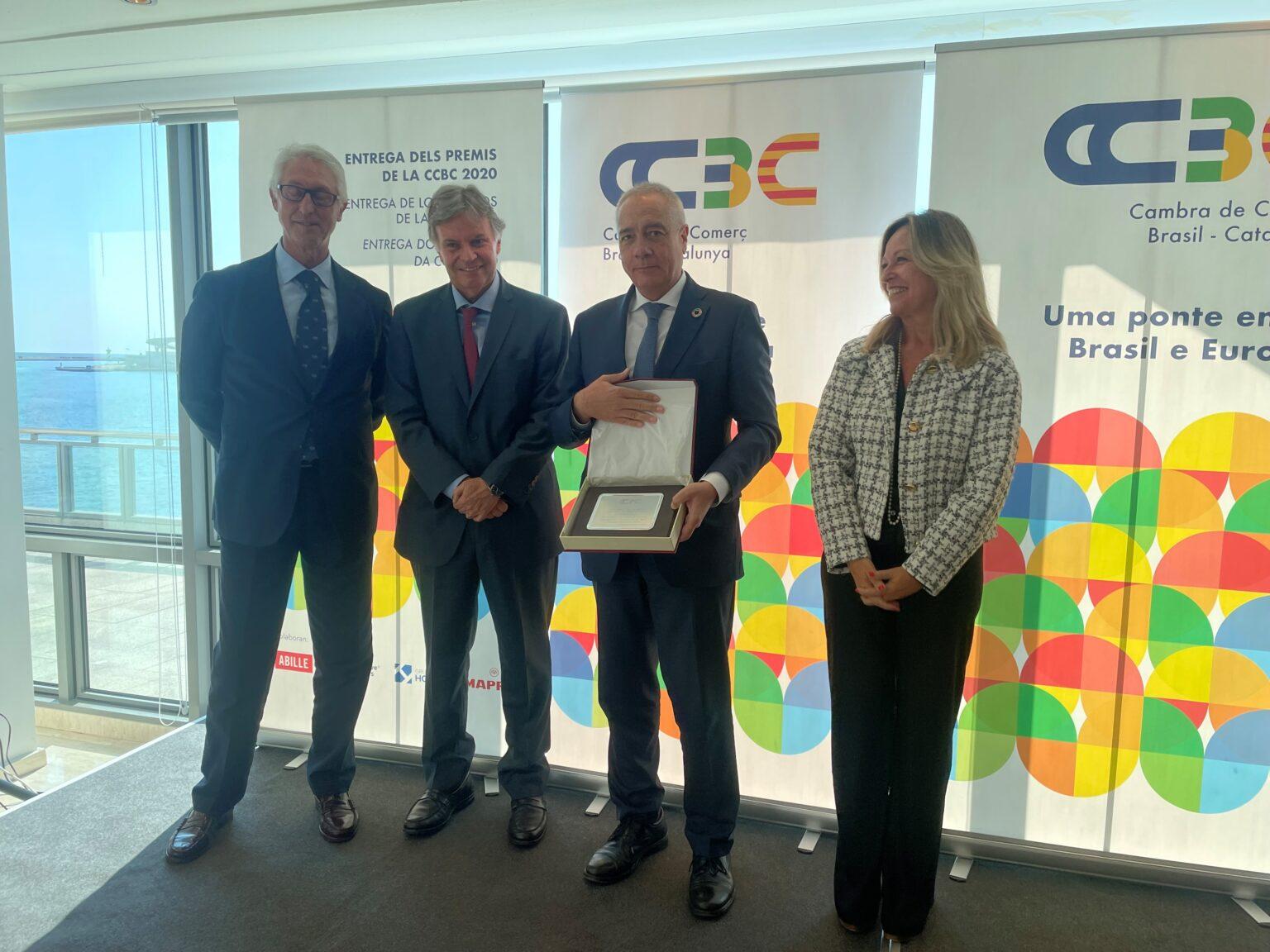 El Consorci de la Zona Franca de Barcelona recibe el premio Especial 2020 de la Cambra de Comerç Brasil Cataluña