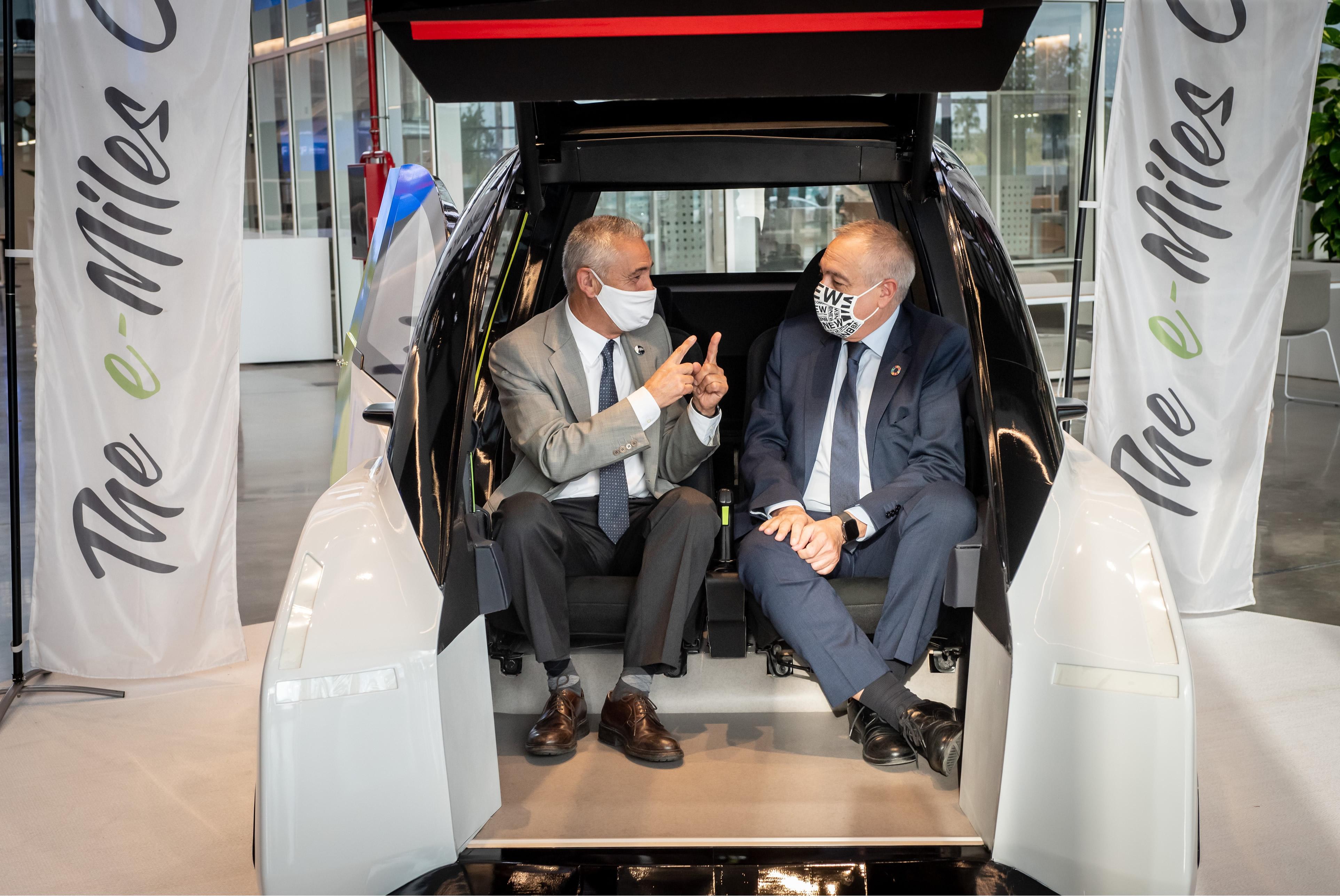 The e-Miles Company se incorpora al DFactory con su revolucionario prototipo de vehículo eléctrico