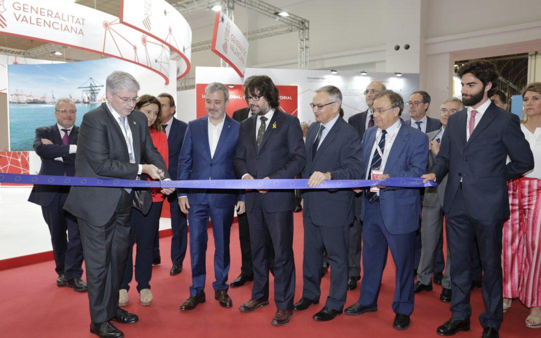 el secretario de infraestructuras y movilidad de la generalitat de catalunya, ricard font, inaugura el sil 2018